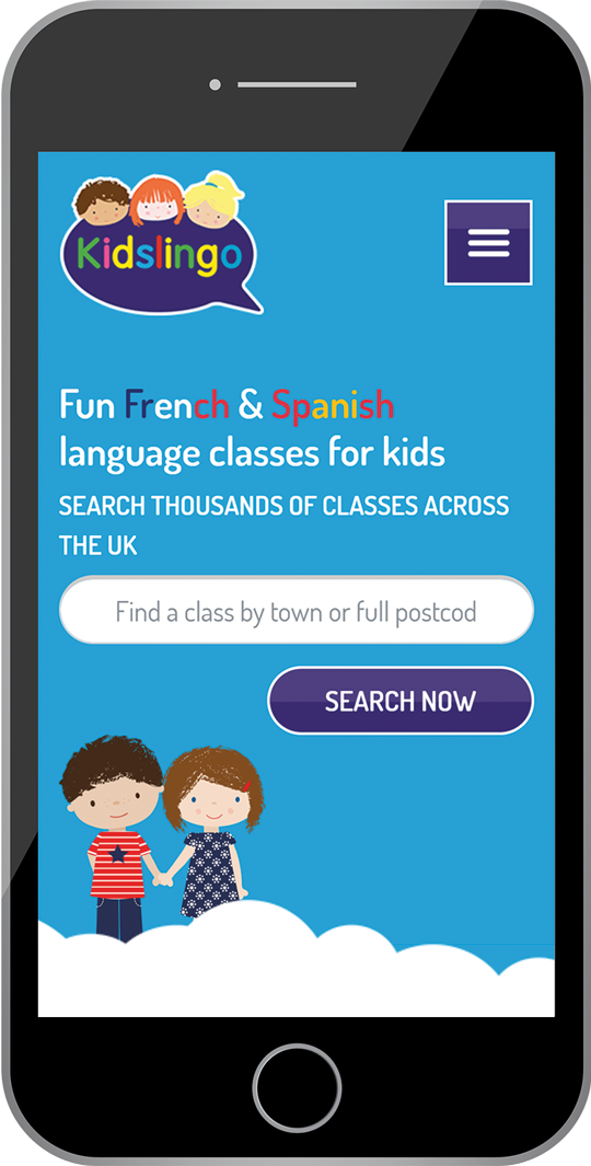 kidslingo.co.uk Phone View